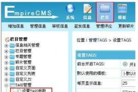 帝国cms后台,tags标签功能详解及使用方法介绍(图文)