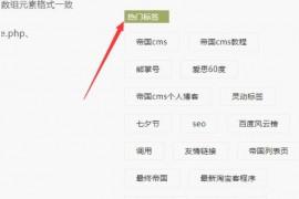 帝国cms仿站教程列表页和内容页模板制作中调用TAG标签的两种方法及代码