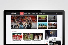 帝国cms7.5整站源码响应式自适应NBA体育赛事资讯类 黑色体育新闻资讯网站帝国模板下载