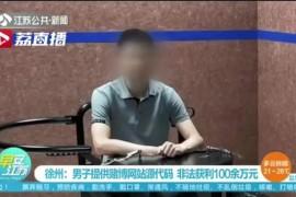海龟男为赌博网站提供源代码,非法获利百万被刑拘!