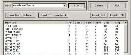 网站监测工具:超强的Tracert工具(WinMTR) 0.9.2 绿色免费版 网站监测工具 第1张