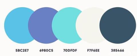好看的五色配色方案 第2张
